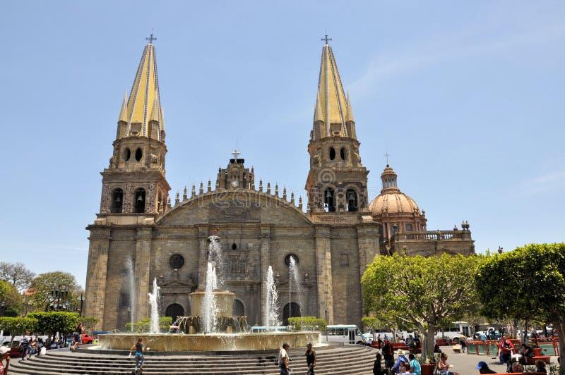 Cathédrale de Guadalajara Mexique photos stock
