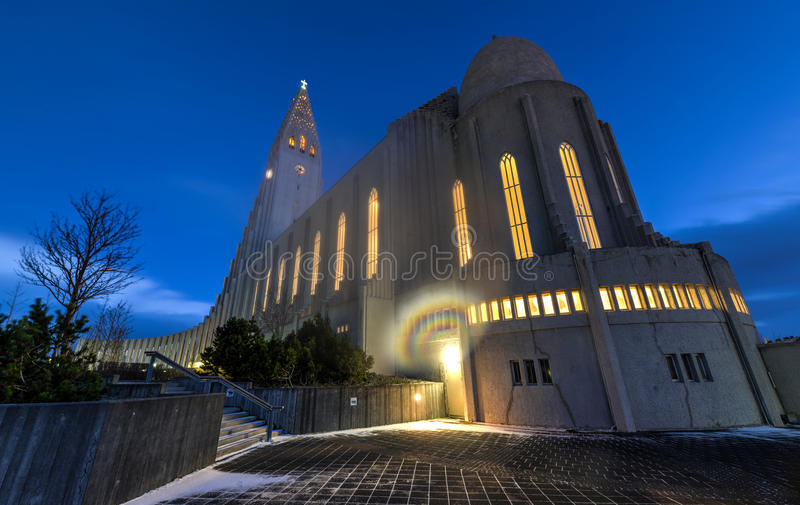 Cathédrale de Hallgrimskirkja à Reykjavik, Islande photo stock