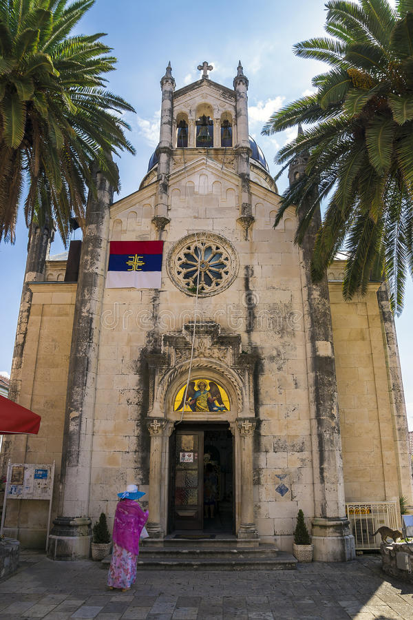 Cathédrale de Herceg Novi, Monténégro photos stock