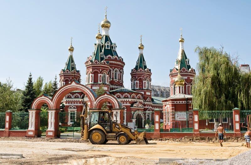 Cathédrale de Kazan à Volgograd image stock
