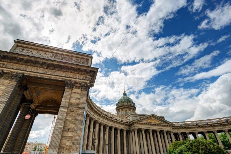 Cathédrale de Kazan dans le St Petersbourg photo libre de droits