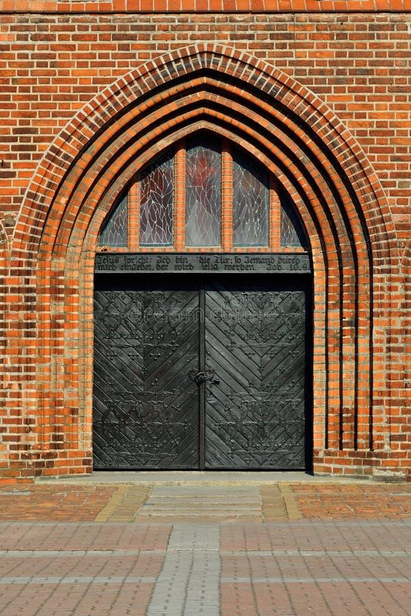 Cathédrale de Koenigsberg, entrée principale photos libres de droits