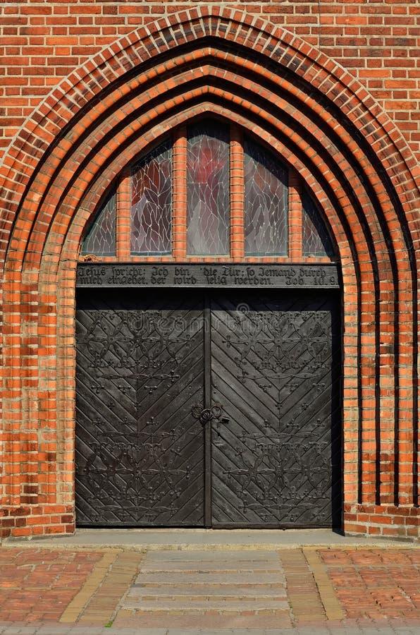 Cathédrale de Koenigsberg, entrée principale Kaliningrad, Russie photo libre de droits