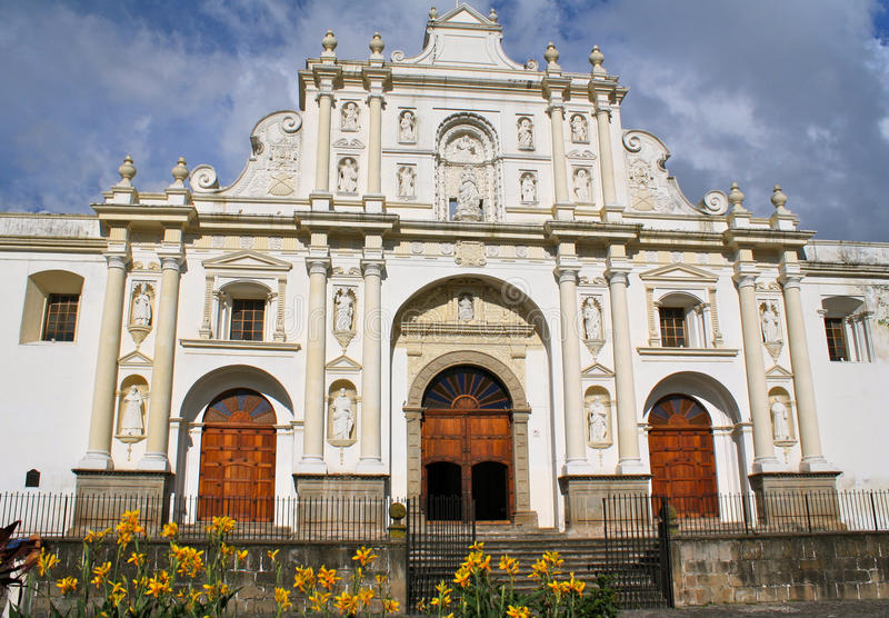Cathédrale de l'Antigua, Guatemala photographie stock libre de droits