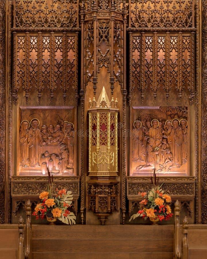Cathédrale de la conception impeccable de Fort Wayne image libre de droits