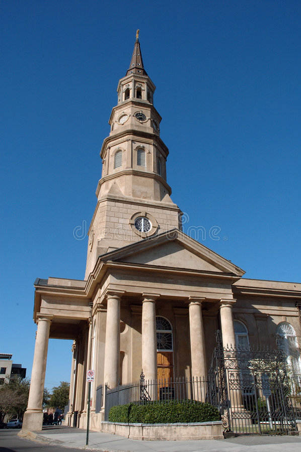 Cathédrale de la rue Phillip de Charleston image stock