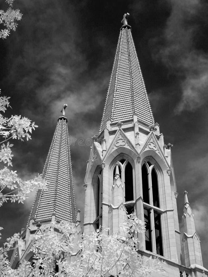Cathédrale de la Ste.Hélène, infrarouge image libre de droits