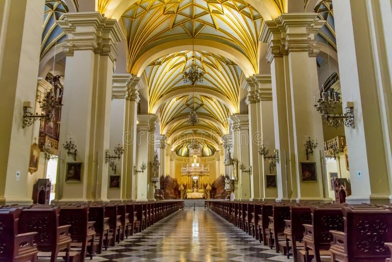 Cathédrale de Lima au Pérou photographie stock libre de droits