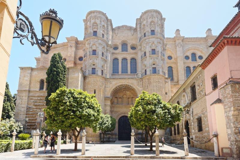 Cathédrale de Malaga, Espagne Architecture, extérieure images libres de droits