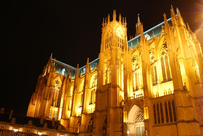 Cathédrale de Metz, France images libres de droits