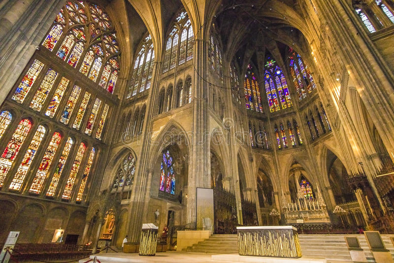Cathédrale de Metz, France image stock
