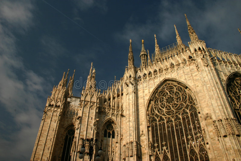 Cathédrale de Milan photo stock