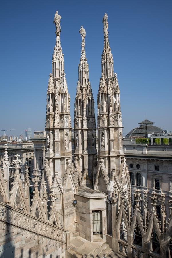 Cathédrale de Milan, saint Mary Nascent, Italie photos stock