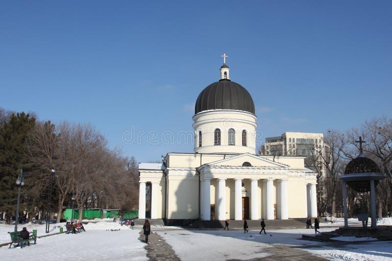 Cathédrale de nativité à Kishinev ChiÈ™inău Moldau photographie stock