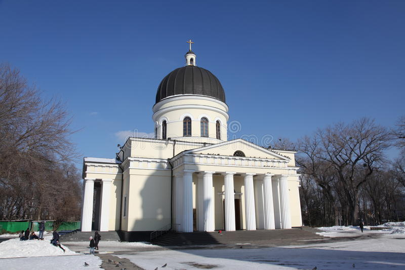Cathédrale de nativité à Kishinev ChiÈ™inău Moldau photos stock