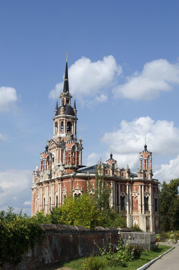 Cathédrale de Nikolski dans la région de Moscou du Kremlin de Mozhaysk Russie images stock