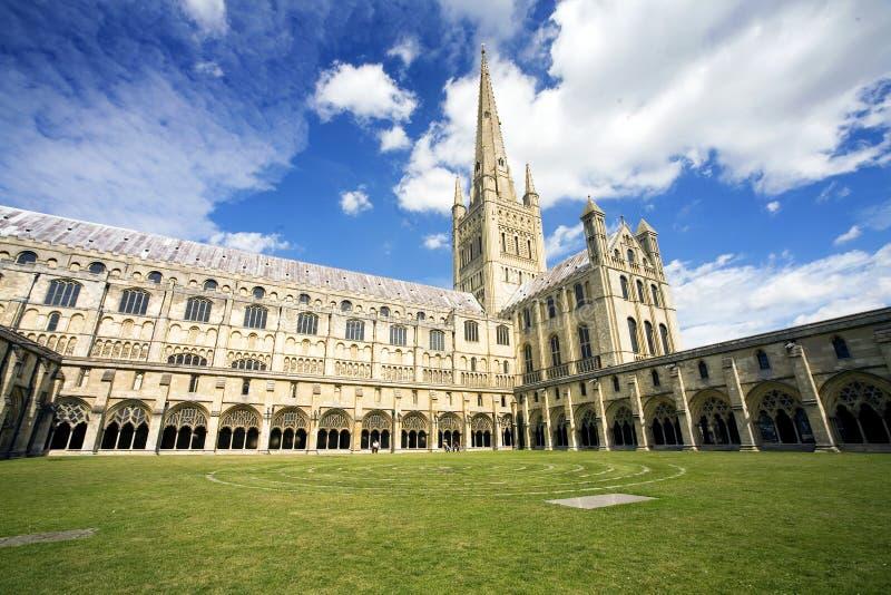 Cathédrale de Norwich image libre de droits