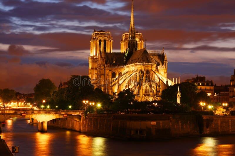 Cathédrale de Notre Dame à Paris image stock
