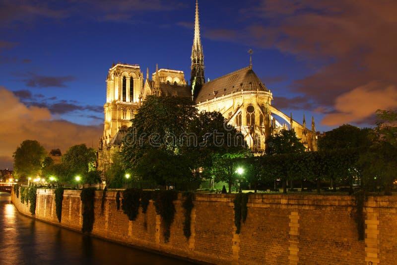 Cathédrale de Notre Dame à Paris images libres de droits