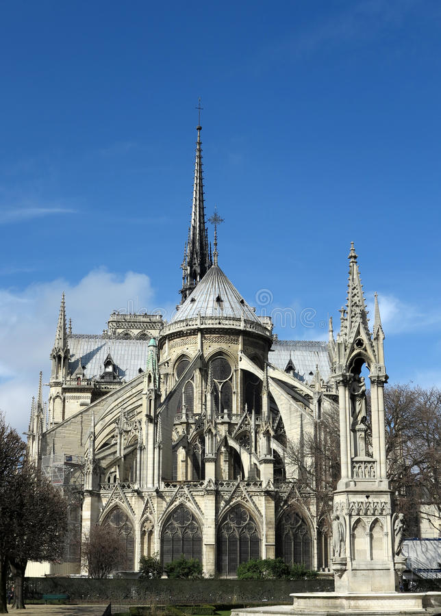 Notre Dame à Paris photo libre de droits