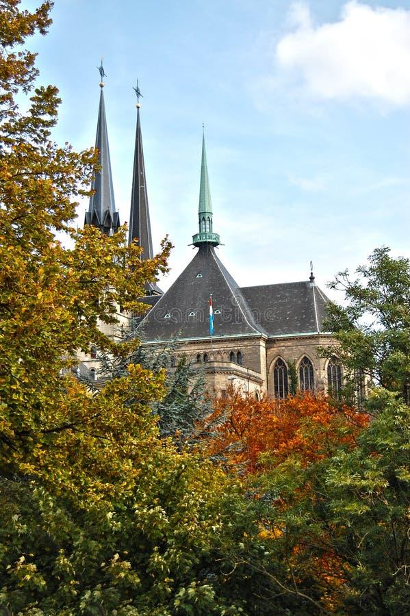 Cathédrale de Notre Dame du Luxembourg images libres de droits