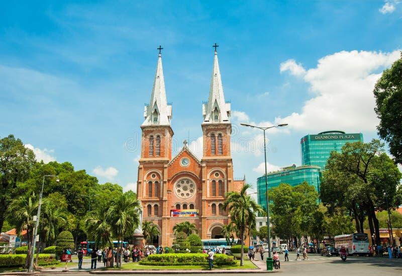 Cathédrale de Notre-Dame en Ho Chi Minh City, Vietnam image stock