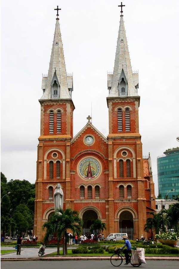 Cathédrale de Notre Dame, Ho Chi Minh Ville images libres de droits