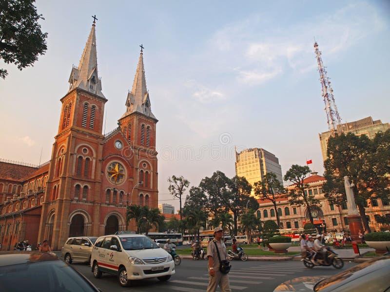 Cathédrale de Notre Dame, Ho Chi Minh Ville, Vietnam. photos stock