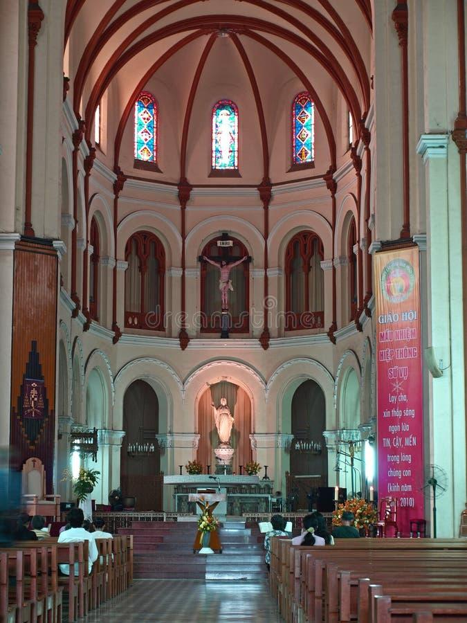 Cathédrale de Notre Dame, Ho Chi Minh Ville, Vietnam. photographie stock