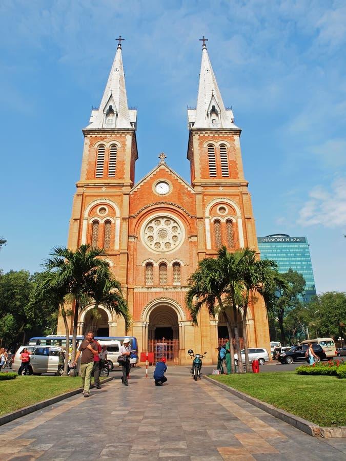 Cathédrale de Notre Dame, Ho Chi Minh Ville, Vietnam. image libre de droits