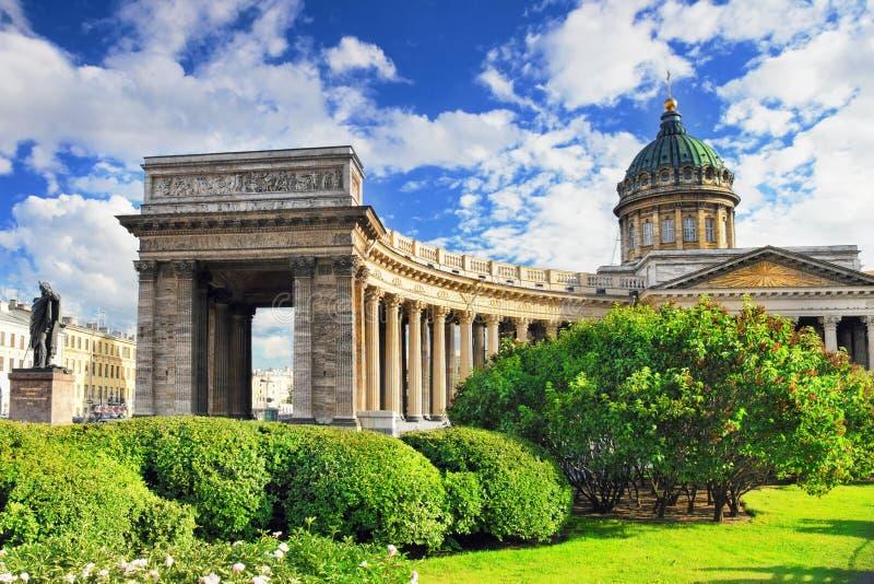 Cathédrale de notre Madame de Kazan, St Petersburg photos stock