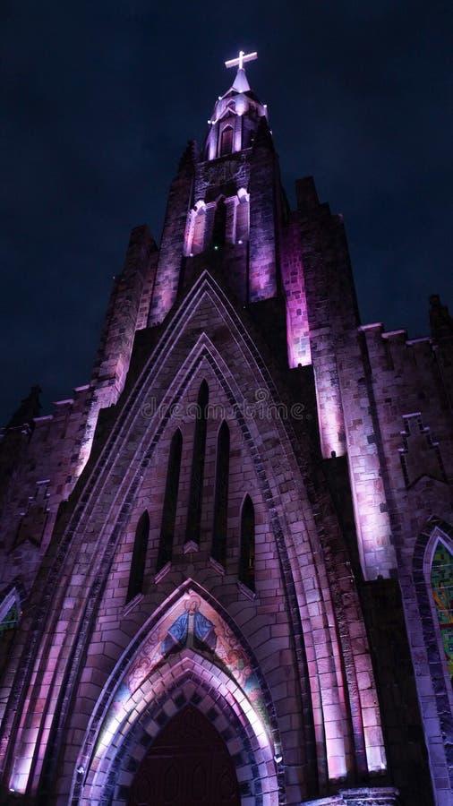 Cathédrale de notre Madame de Lourdes dans Canela, Brésil images stock