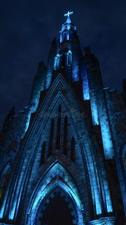 Cathédrale de notre Madame de Lourdes dans Canela, Brésil photographie stock libre de droits