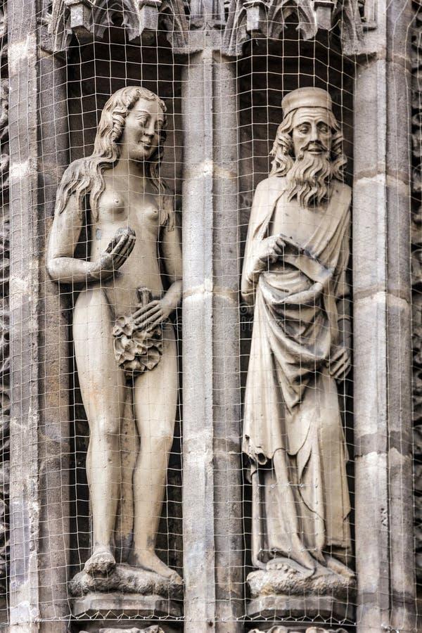 Cathédrale de Nuremberg en Allemagne Église de St Lawrence, décoration S images stock