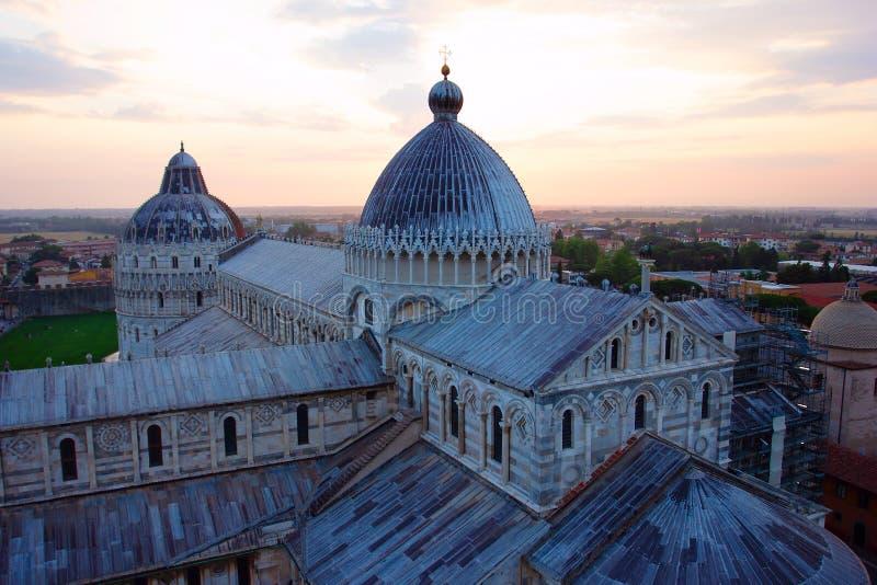Cathédrale de Pise, baptistère photographie stock libre de droits