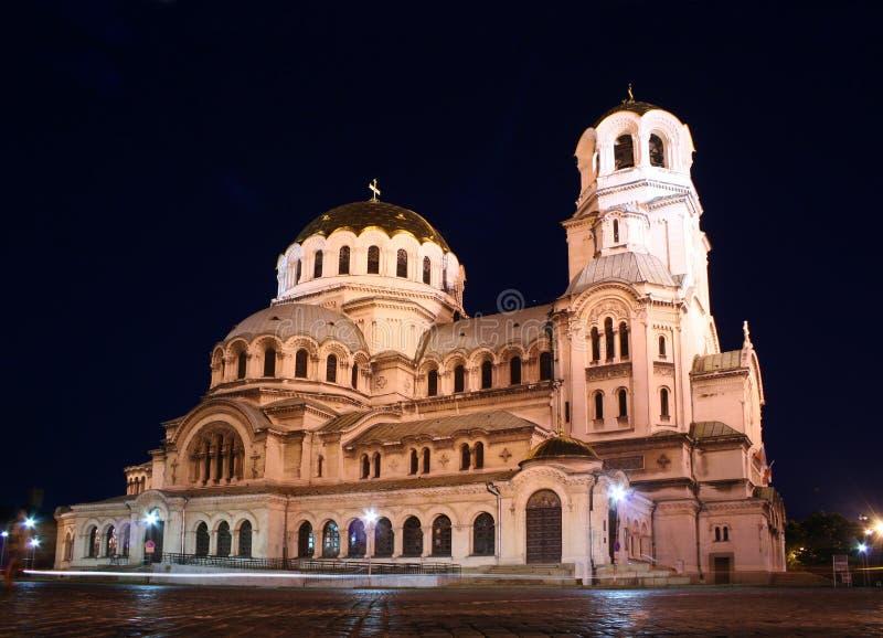 Cathédrale de rue Alexandre Nevsky photographie stock