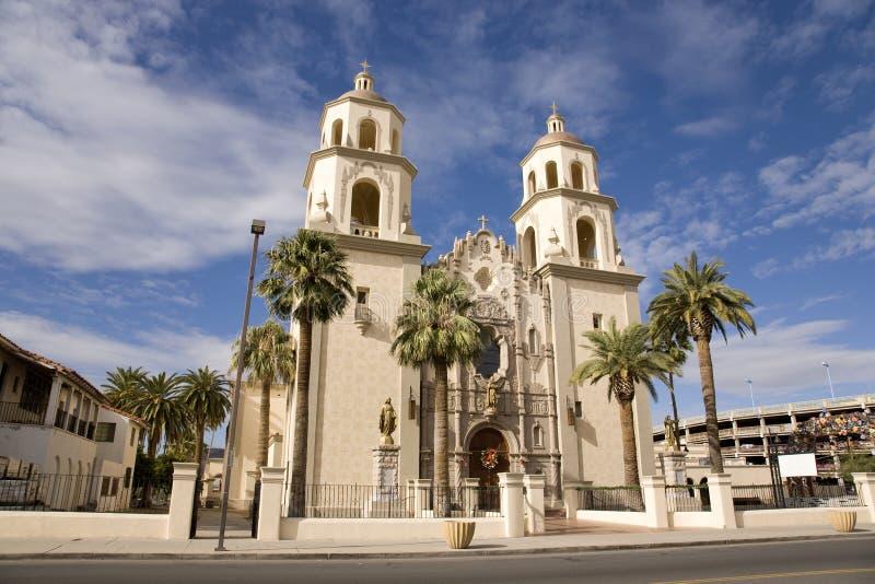 Cathédrale de rue Augustine dans Tucson Arizona photos stock
