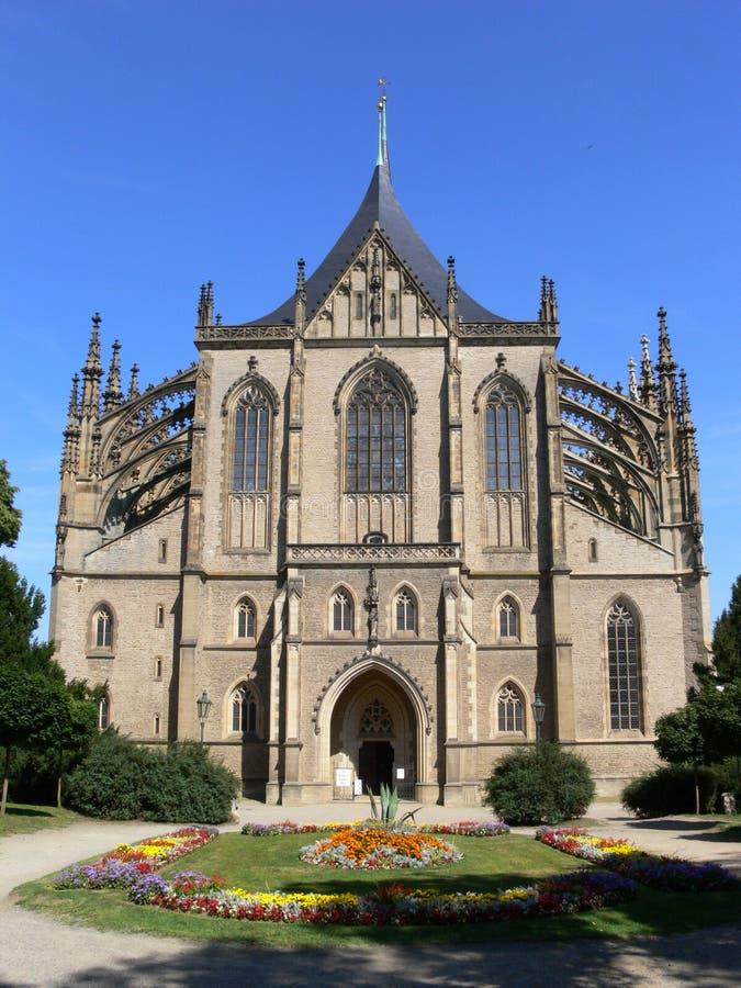 Cathédrale de rue Barbaraâs images stock