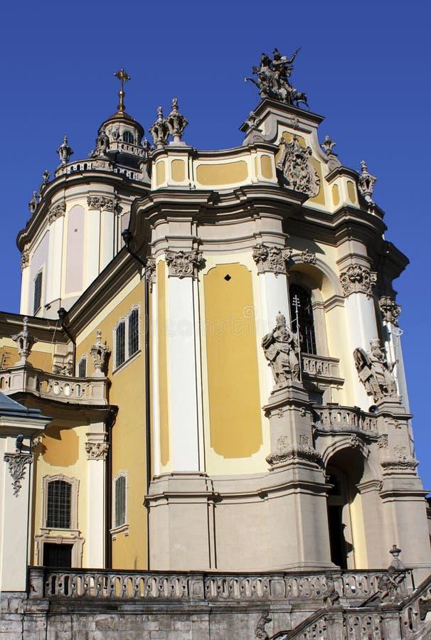 Cathédrale de rue George à Lviv image libre de droits