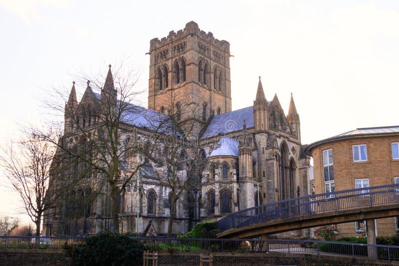 Cathédrale de rue Jean-Baptist image stock