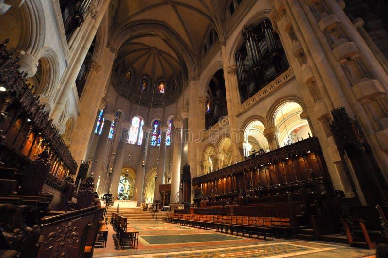 Cathédrale de rue John le divin, NYC photo stock