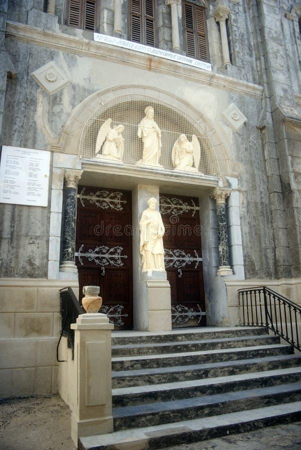 Cathédrale de rue Joseph, ville en pierre, Zanzibar images libres de droits