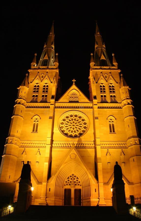 Cathédrale de rue Mary, Sydney image stock