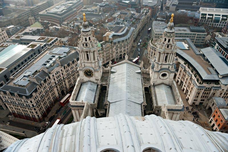 Cathédrale de rue Paul, Londres, R-U. image libre de droits
