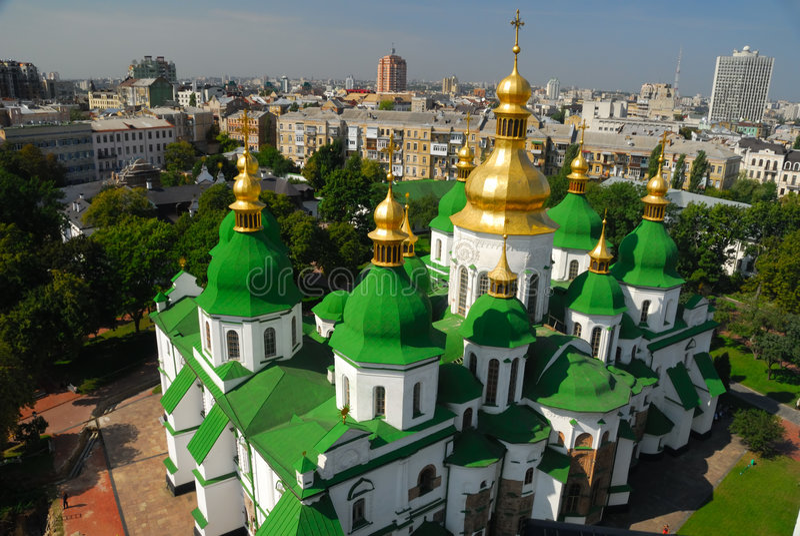 Cathédrale de rue Sophia photos libres de droits