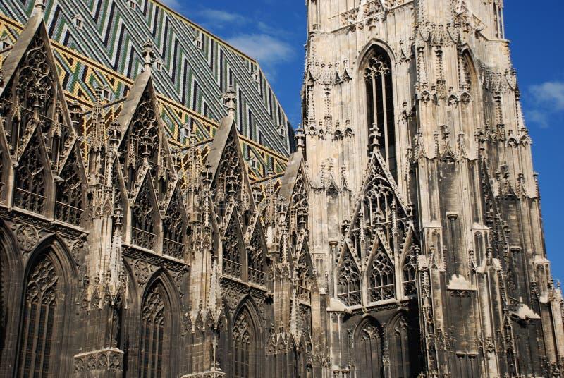 Cathédrale de rue Stephan image libre de droits