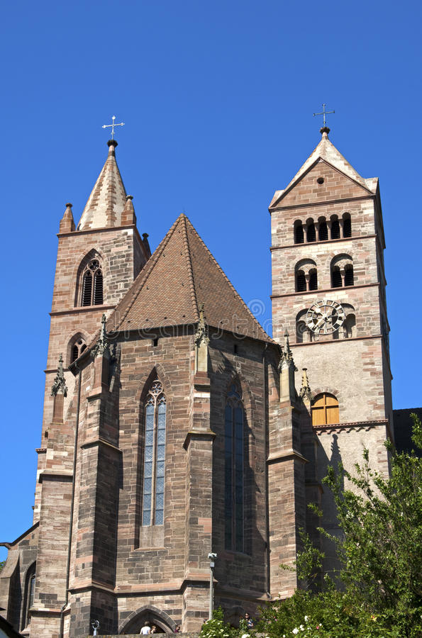 Cathédrale de rue Stephans, Breisach photo libre de droits