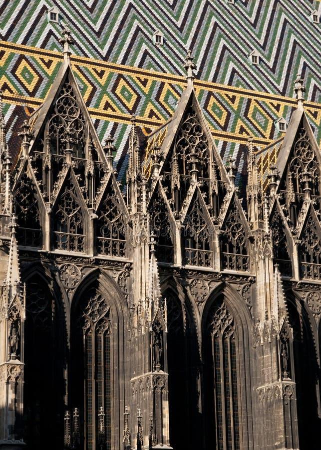 Cathédrale de rue Stephens à Vienne image stock