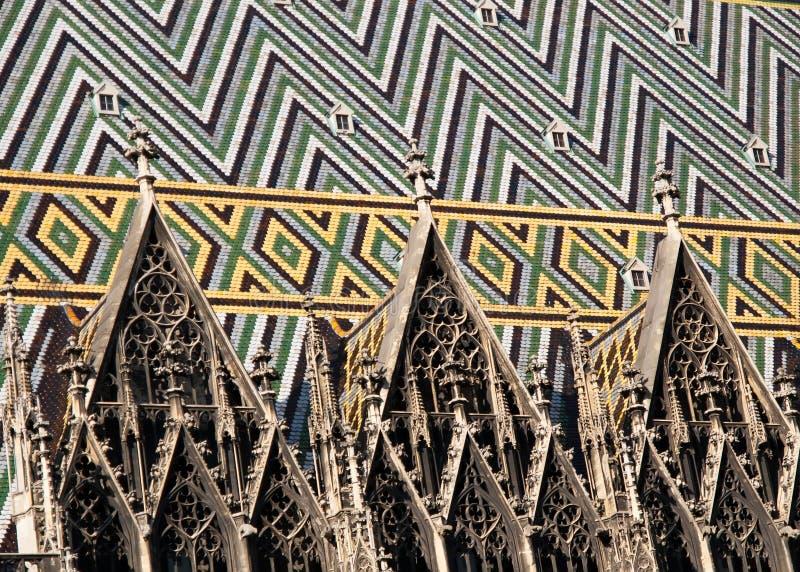 Cathédrale de rue Stephens à Vienne photographie stock