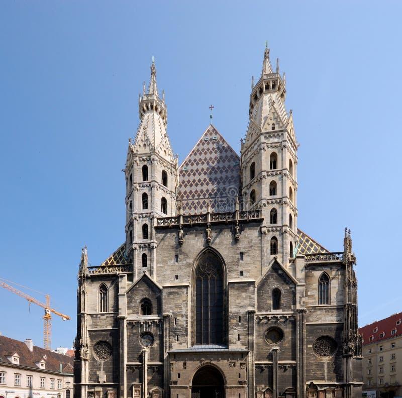 Cathédrale de rue Stephens, Vienne image stock